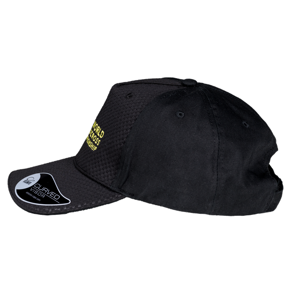 World RX Logo Embroidery Baseball Cap Black