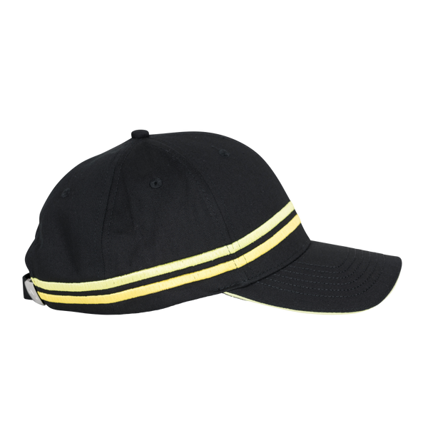 World RX Striped Embroidery Baseball Cap Black