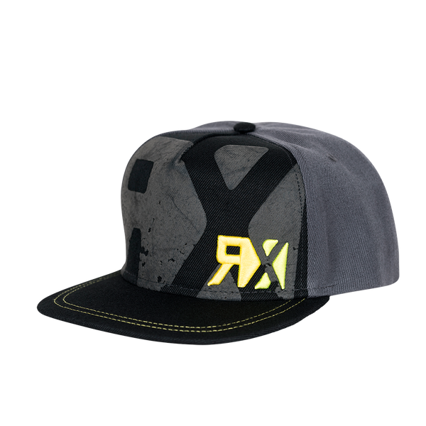 World RX Puff Print Snapback Grey/Black