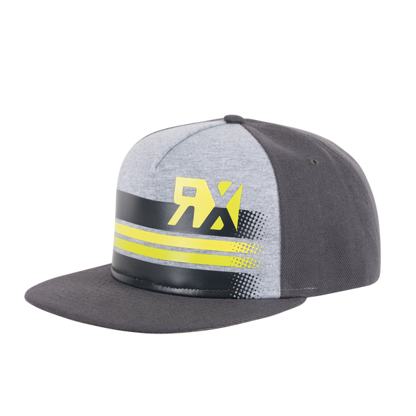 World RX Striped Print Snapback Grey