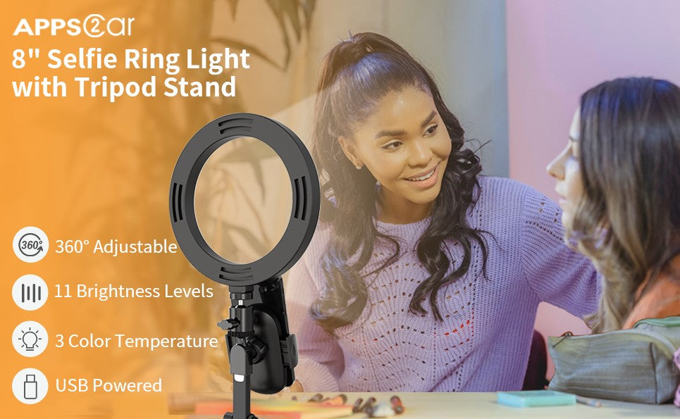 Selfie-Ring-Light-with-Tripod-Stand-Phone Holder