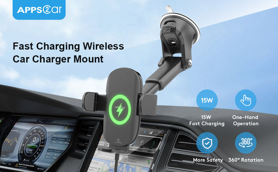 wireless charger dash mount