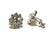 Women's Crystal Rhinestone Clip Earrings -- Silver