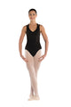 Amari -- Women's Tank Racer Back Leotard -- Black