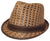 Fedora -- Stingee Paper -- Brown/Check