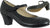 "2.25"" Folklorico -- Women's Flamenco Shoe --  Black - Teddy Shoes"