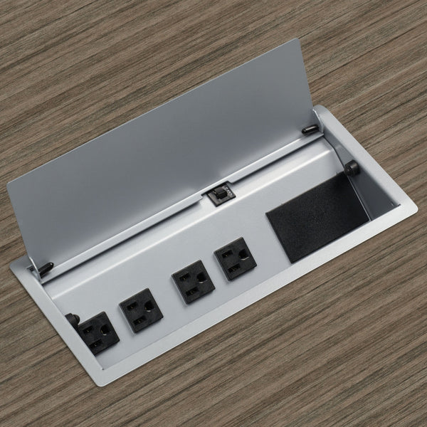 "Power Solutions 12""W Power/Data Block, Tungsten (PLCTM102T)"