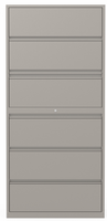 6 Drawer Lateral File - Two Receding, Four Fixed Front
