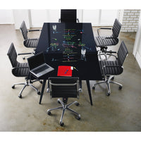 Boardroom Table with Glass top