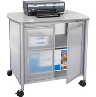 Safco Impromptu Deluxe Machine Stand with Doors SAF1859GR