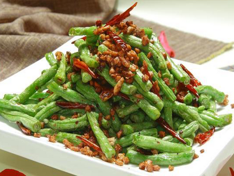 干煸四季豆 Stir-fried String Beans