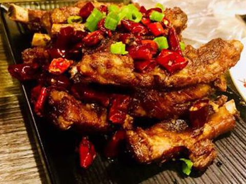 (微辣)霸王火焰排骨-Edmonds店限定 Fried Pork Short Rib with Cumin