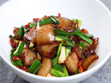 (微辣)腊肉香干钵 Stir-fried Chinese Bacon with Smoked Firm Tofu