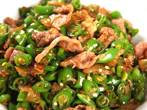 (微辣)农家小炒肉 Stir-Fried Pork With Pepper