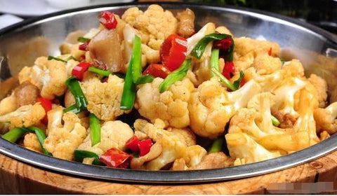 大盆花菜 Stir-fried Cauliflower 辣度:★☆☆