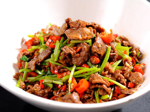 (大辣)野山椒牛肉 Stir-Fried Beef with Wild Chili