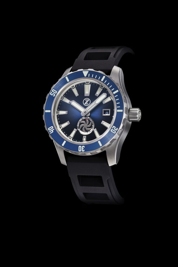 Zelos Abyss 3 Turbine Midnight Blue 3000 Diver Steel