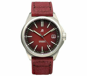 RZE Resolute Crimson Red Titanium Field Watch