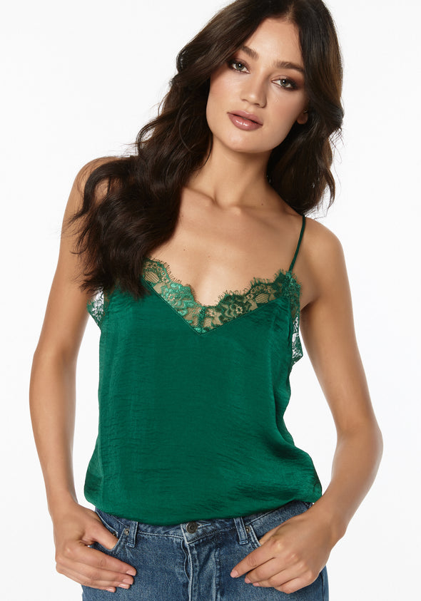 Stine lace singlet - Field green