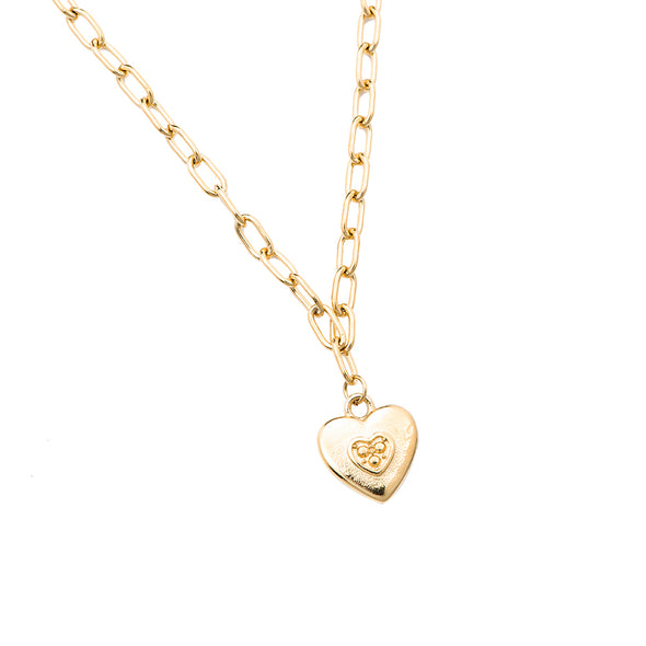 Dottilove - Necklace - Lock my Heart Gold