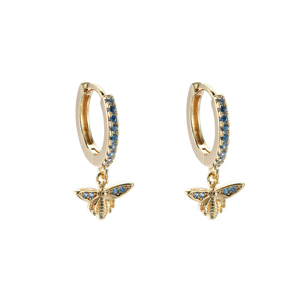 Dottilove - Earrings - Honeybee blue