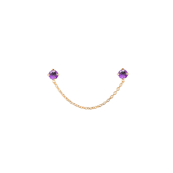 Dottilove - Earchain - small two purple diamants