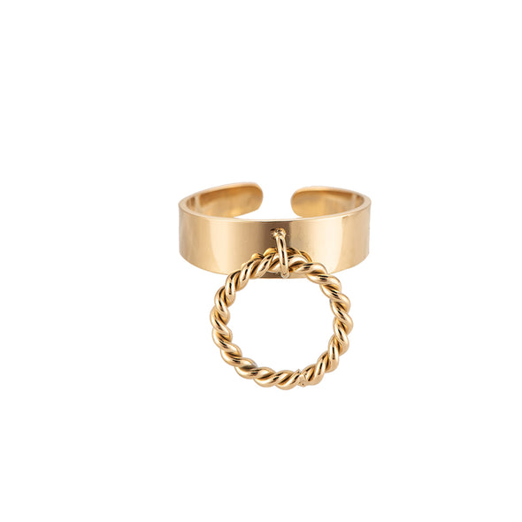 Dottilove - Ring - Twirling ring hooked gold