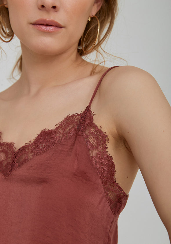Stine lace singlet - Old rose