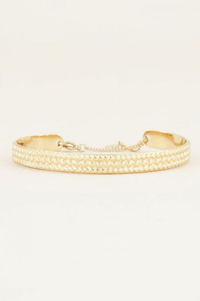 Bangle met bolletjes - Goud