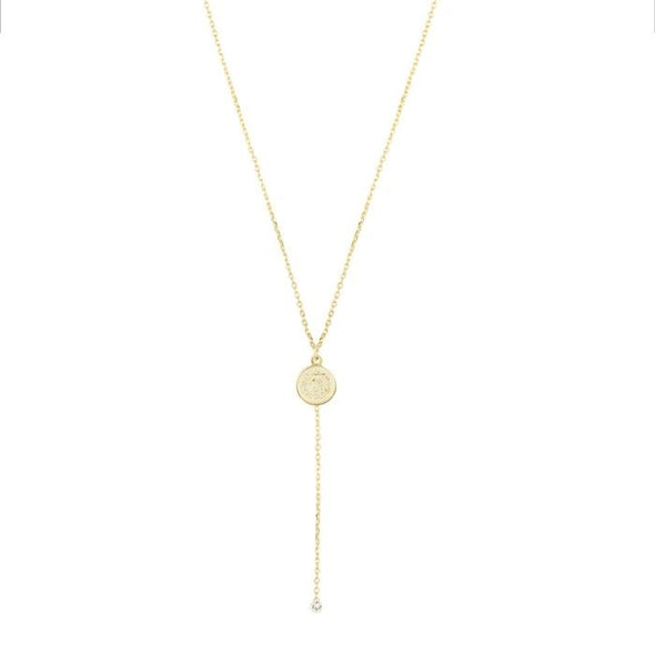 Necklace Y shaped - Goud
