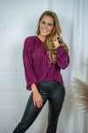 Lova pleated top - Wine red