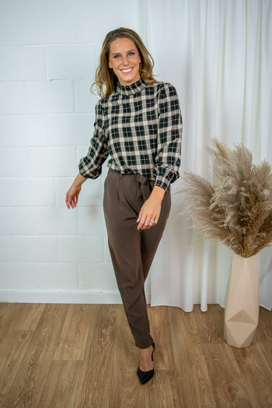 AndreaSZ pants - Chocolate brown