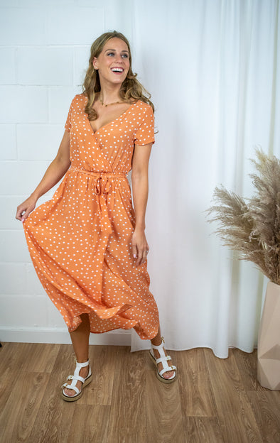 Ida wrap dress - Light orange