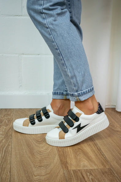 Baskets velcro -  Black and white