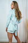 Blair Blazer - Mint White Stripes