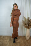 Paula dress - Brown stripes