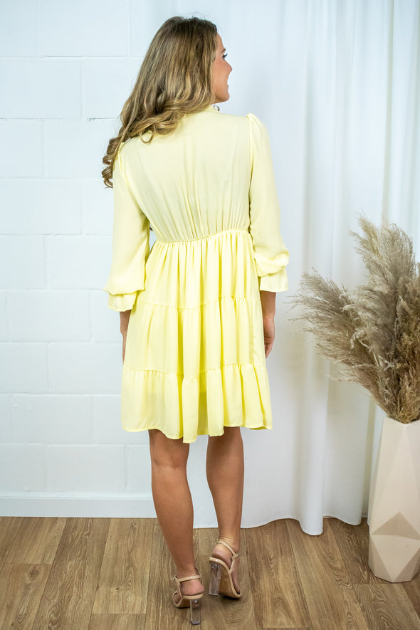 Dress with ruffles - Yellow