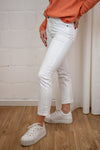 KAmarly cropped straight jeans - White