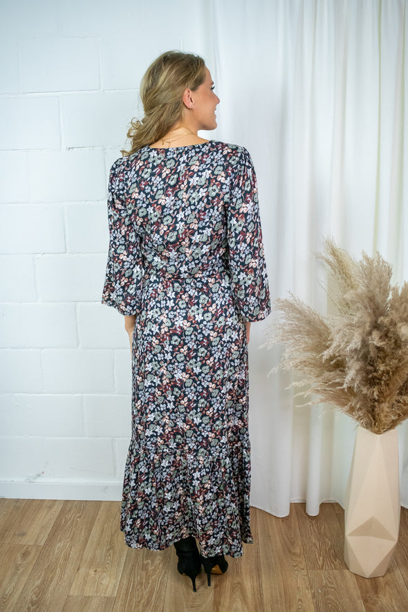 Kasmilla maxi dress - Iceberg green flower print