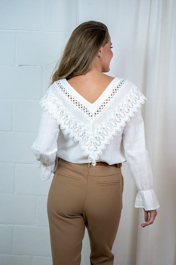 AgnaCR blouse - Chalk