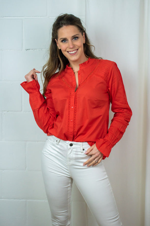 MannaCR blouse - Aurora red