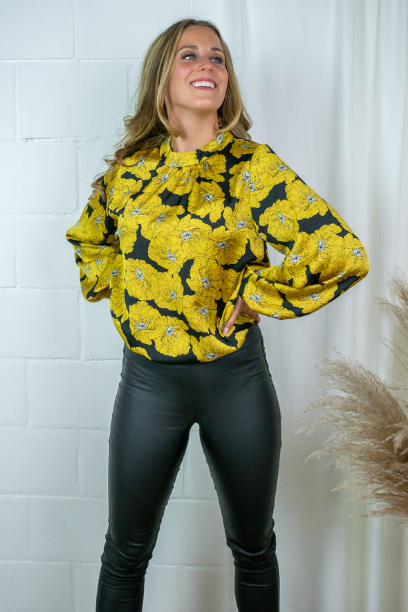 Tilly Blouse - Yellow Rose