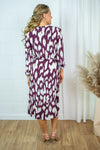 CristySZ LS dress - Wine animal print