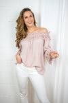 Bea lace blouse - Rose dust