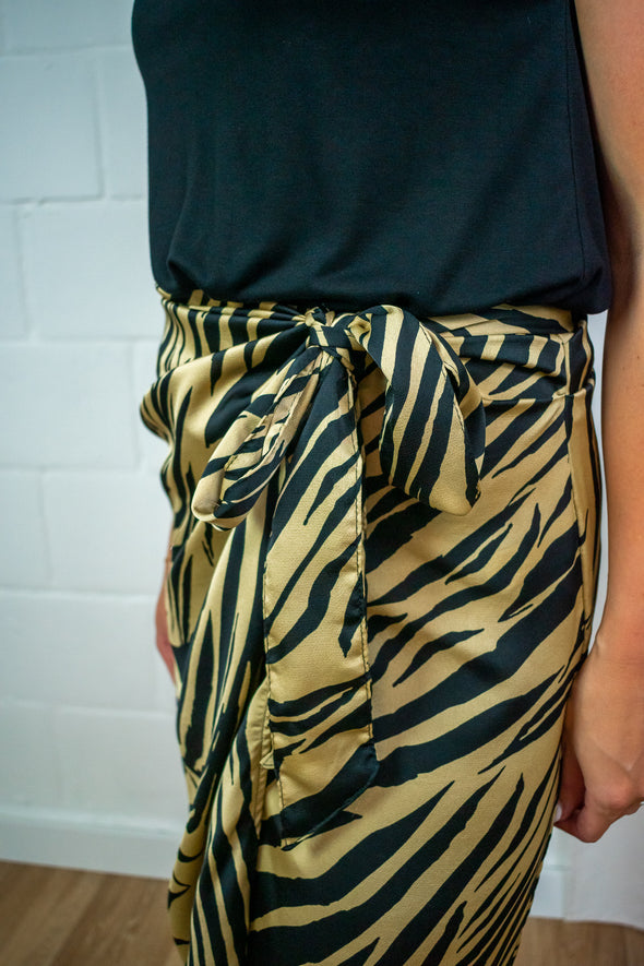 Frida knot skirt - Zebra