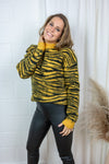 Zebra Jacquard Knit - Yellow Glow