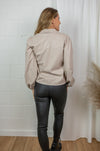 London faux leather blouse - Beige
