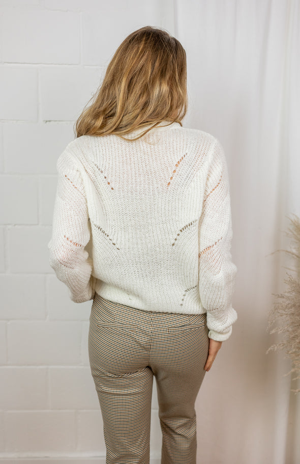 New Daisy structure knit - Cloud dancer