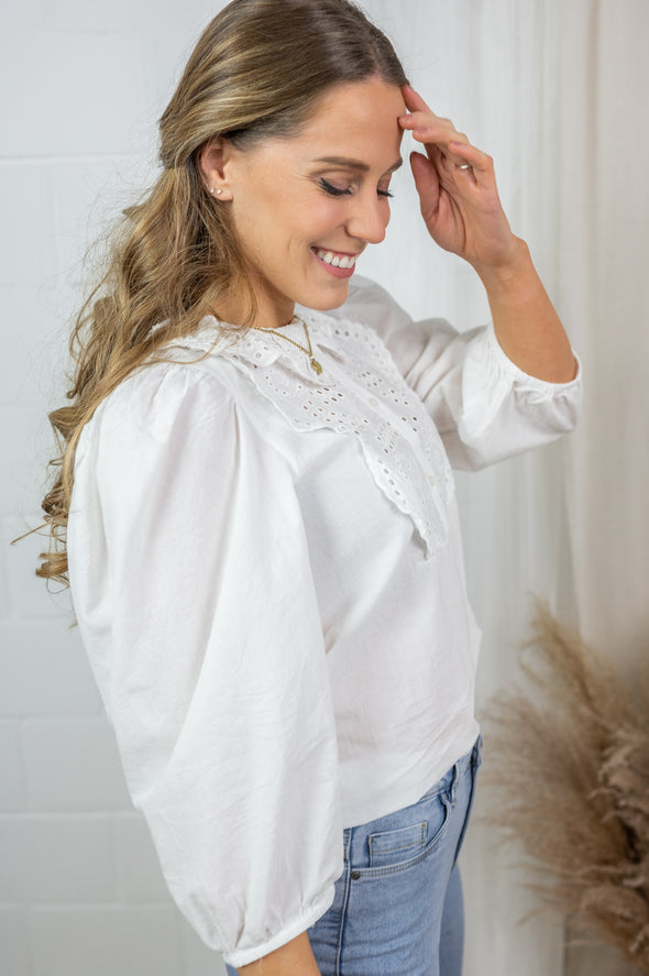 Calista blouse - White