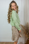 New Daisy structure knit - Lichtgroen